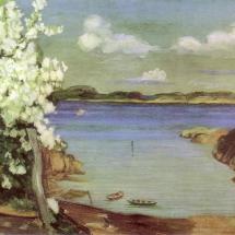 kjvik0294a blomstrende kirsebærtre 1907